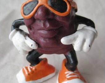 California Raisins Figurine Toy Orange Vintage Miniature