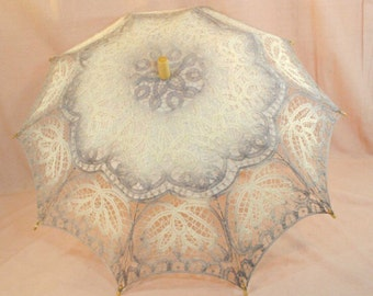 Lace Parasol Grey SHIPS NEXT DAY