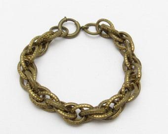 Vintage Heavy Chain Bracelet Retro Jewelry B7217