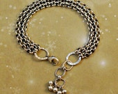 Sterling silver bracelet, rolo chain, 3.9mm rolo, chunky, oxidized, rustic, cowgirl, chain link, lobster clasp, bytwilight