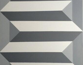 Geometric Geometric Canvas Painting by Dominic Joyce