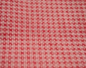 Dotted Swiss Gingham  - Vintage Fabric Sewing Doll Making Red Plaid