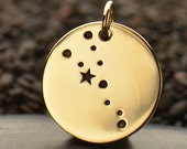 NEW - TAURUS 925 Natural Bronze Zodiac Constellation Disc - Add A Chain Option Avaliable - Insurance Included