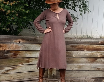 Wildwood peasant midi dress (hemp/organic cotton)