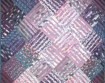 Patchwork Quilt - blue and purple Underground Blues throw