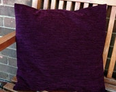 aubergine accent  cushion cover, purple decorative pillow cover 14 / 16 inch