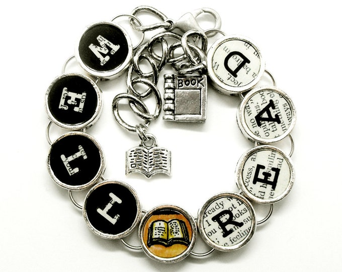Well Read Book Bracelet Readers Bookish Bibliophile Literary Themed Jewelry