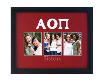 ALPHA OMICRON PI Photo Sorority Collage Mat Only