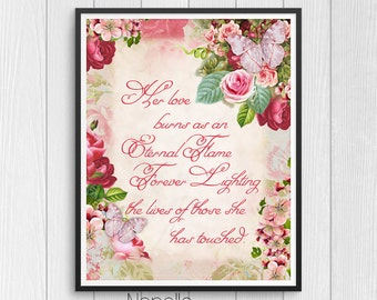 Mothers Day Printable Wall Art - Mom Digital Download - Printable Art - Print Your Own Images for Home Decoration - Decoupage Paper