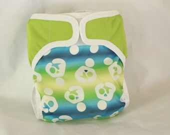Large /Eat Local Breastfeeding diaper cover/waterproof/ cloth diaper cover /wrap/ leg gussets/velcro