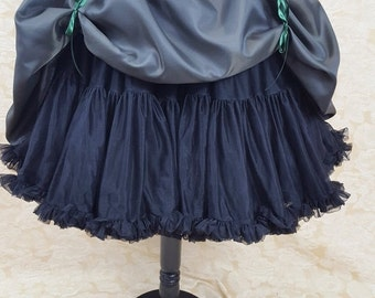 Clearance Dark Green Black Knee Length Bustle Skirt-One Size Fits All