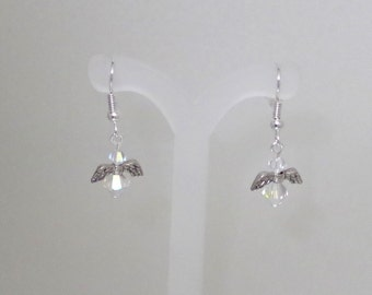 Swarovski Crystal Jewelry - Earrings - Petite Angels - All Swarovski Colors Available - Made to Order