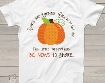 pumpkin big sister shirt- big sister to be fall or halloween pregnancy announcement LPBNBS