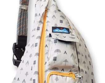 Monogrammed Kavu Rope Bags - Campground - Great gift for College, Teens, Women, Outdoors Satchel Crossbody Tote