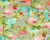 Retro Shower Curtain, Pink Flamingo Shower Curtain, Bird Shower Curtain, Tropical Decor, Pink Bathroom Decor, Bathroom Accessories