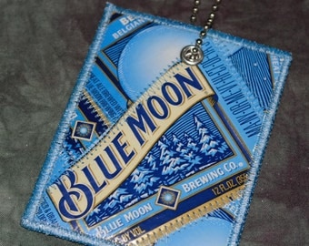 Mini Luggage Tag from Recycled Blue Moon Belgian White Beer Labels