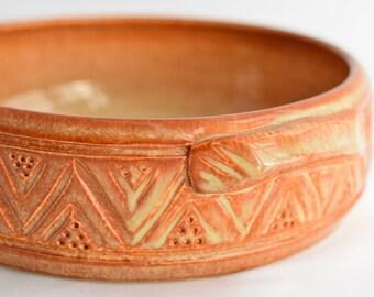 Copper Brown Mini Casserole Dish / Brie Baker - Ceramic Stoneware Pottery