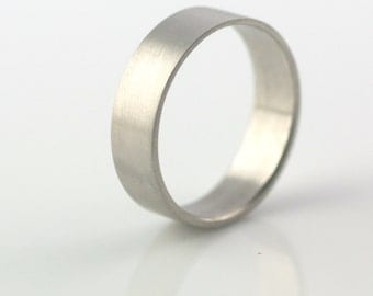 Modern Wedding // Recycled Palladium Satin Finish 6mm by VK Designs