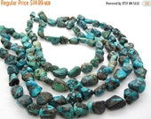 SALE Turquoise Nugget, Turquoise Beads, Blue Turquoise, December Birthstone, SKU 5144A