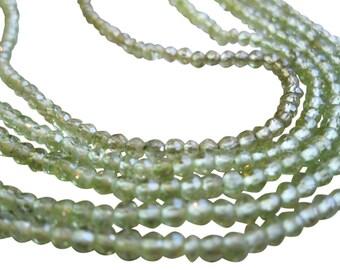Peridot Beads 3mm round, 3mm round Peridot, August Birthstone, Weddings, SKU 145