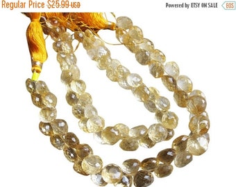 SALE Citrine Briolette Beads, Luxe AAA, Onion Briolettes, 6-6.5mm, November Birthstone, SKU 2052A
