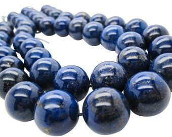 Lapis Lazuli, AAA Grade Lapis Beads, 18mm Smooth Round, Full Strand, SKU 5100A