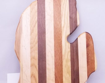 Michigan Shaped Cutting Board - FREE Shipping - Multiple Woods - In Stock Ready To Ship
