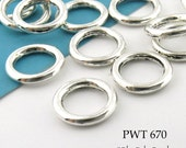 12mm Pewter Jump Ring Connector Closed Large (PWT 670) 22 pcs BlueEchoBeads