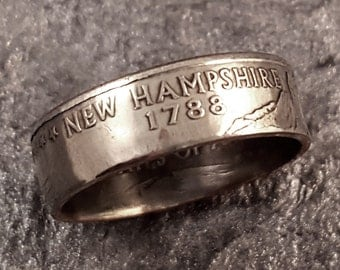New Hampshire Coin Ring YOUR SIZE 5 to 10.5 MR0703-TSTNH
