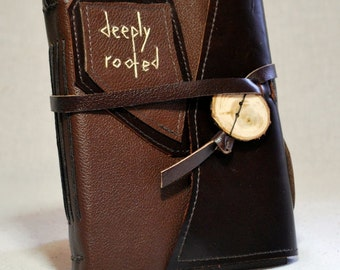 Deeply Rooted - Medium Leather Journal with Recycled Paper