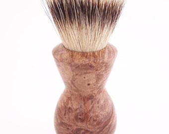Maple Burl Wood 24mm Super Silvertip Badger Hair Shaving Brush Handle (Handmade in USA) M1 - Anniversary Gift - Men's Gift - Executive Gift