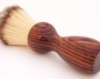 Shaving Brush:  Cocobolo Wood 22mm Modern Synthetic Hair (Handmade in USA) C3 - Retirement Gift - Executive Gift - Gift for Him