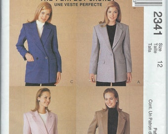McCall's 2341 Misses' Lined Jacket - Size 12 - Uncut Pattern