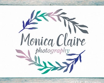 Premade Logo Design, Custom Logo, Photography Logo,  Soap Logo, Business Logo, Watercolor Logo, Watermark, Leaf Logo, Wedding Logo