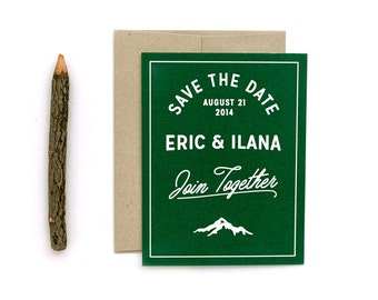 Wedding Save the Date Set - Woodland Save the Date