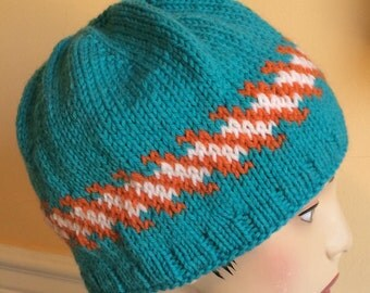 Miami Dolphins Hats - Knit Hat - Wool Hat - Miami Dolphins - Mens Hat - Womans Hat - Dolphins Hat - Hat