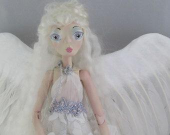 ANGEL Alexandra clay jointed puppet doll, handmade in the USA