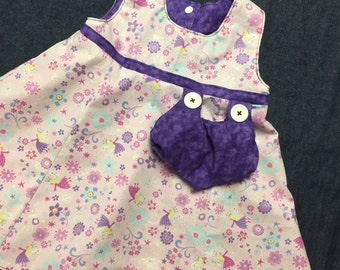 Reversible sparkle fairy dress sizes 5-8 years