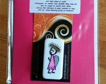 ANGEL BLESSING 12, Angel in your pocket to remind you that you are never alone. Signed, numbered and dated. No two alike.