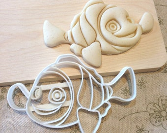 Nemo Cookie Cutter - Fondant Icing Cake Cupcake Topper Iced Sugar Biscuits Mould Clown Fish Mold Marlin Finding Nemo Birthday Party Favors