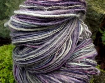 Handspun yarn, Handpainted sport weight yarn angora Merino wool yarn-Dew