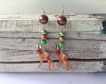 Fun Woodland Deer Earrings