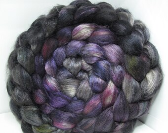 Yak Bombyx Silk 50/50 Roving Combed Top - 5oz - Twilight 1