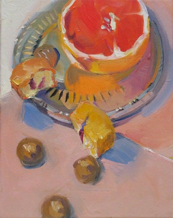 Ruby...a still life oil painting by South Carolina artist Linda Hunt ... impressionism, impressionistic