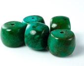 Reserved: Turquoise Barrel Beads