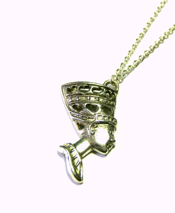 Silver Egyptian Head Queen Pendant Necklace Top Selling Jewelry Most Popular Jewelry Gift Ideas Jewelry for Women