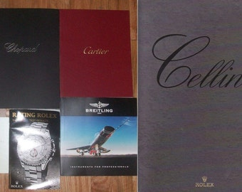 Lot 6 Watch Catalogs~Ratings~Rolex~Chopard~Breitling~Cartier~OBO