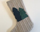 Alpine Forest Wool Stocking