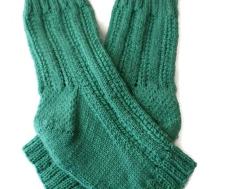 Pedicure Socks - Hand Knit Toeless Socks - Spa Socks -  Flip Flop Socks