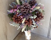 Bridal bouquet from my new Pine cone and Wildflower collection. For the nature or Woodland theme wedding.